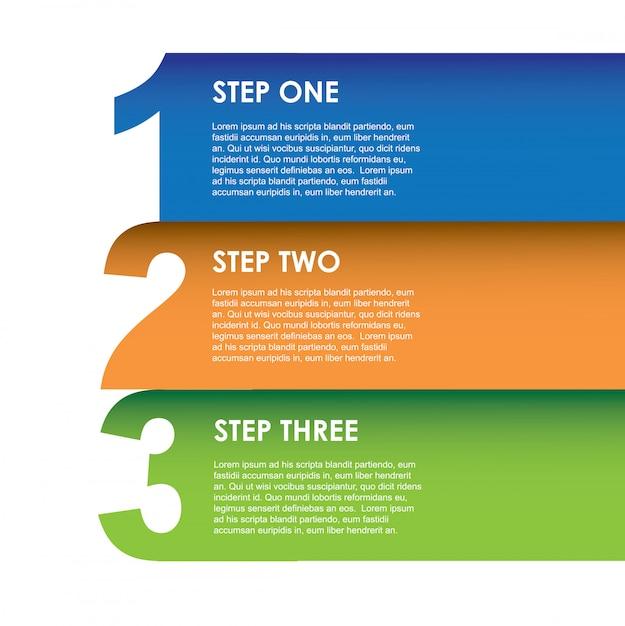 Infografica numerica Vettore Premium