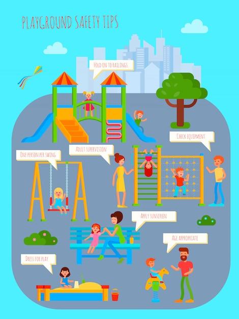 Infografica parco giochi Vettore gratuito
