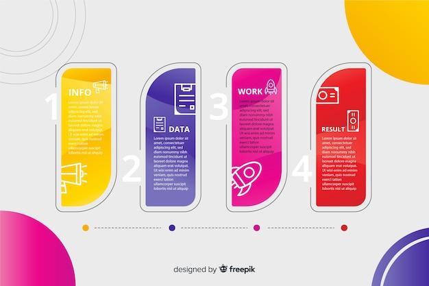 Infografica passaggi professionali Vettore gratuito