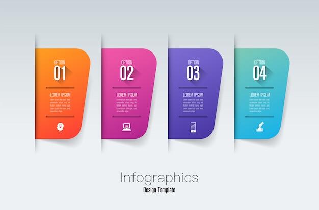 Infografica passo Vettore Premium