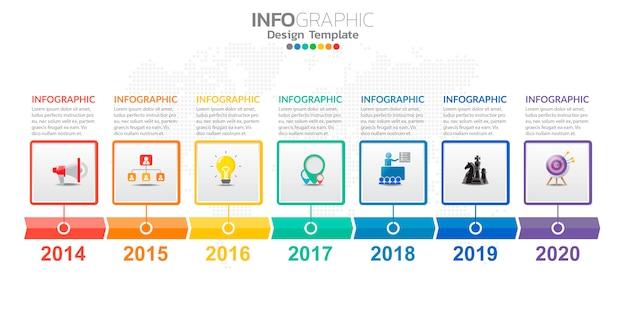 Infografica per affari con icone e opzioni o passaggi. Vettore Premium