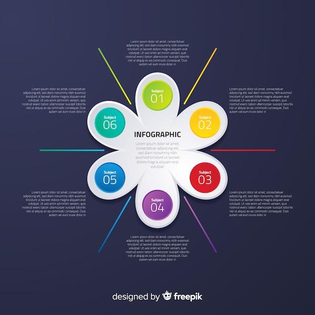 Infografica piatta con effetto sfumato Vettore gratuito