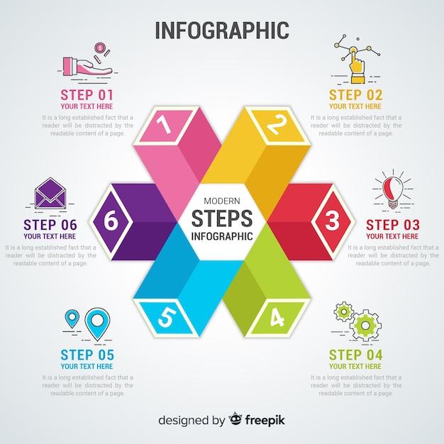 Infografica piatta Vettore gratuito