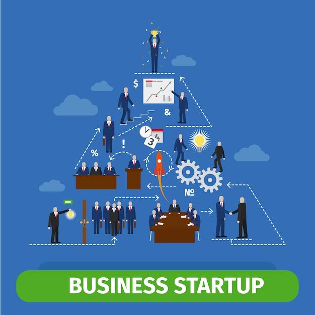 Infografica piramide aziendale Vettore Premium