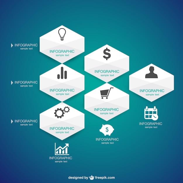 Infografica presentazione delle informazioni grafiche Vettore gratuito
