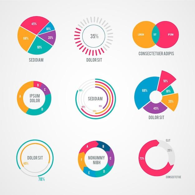 Infografica radiale Vettore gratuito