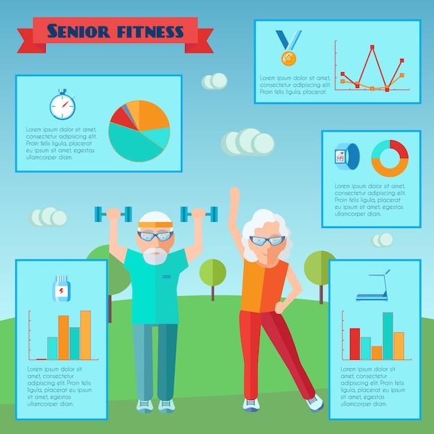 Infografica sport senior Vettore gratuito