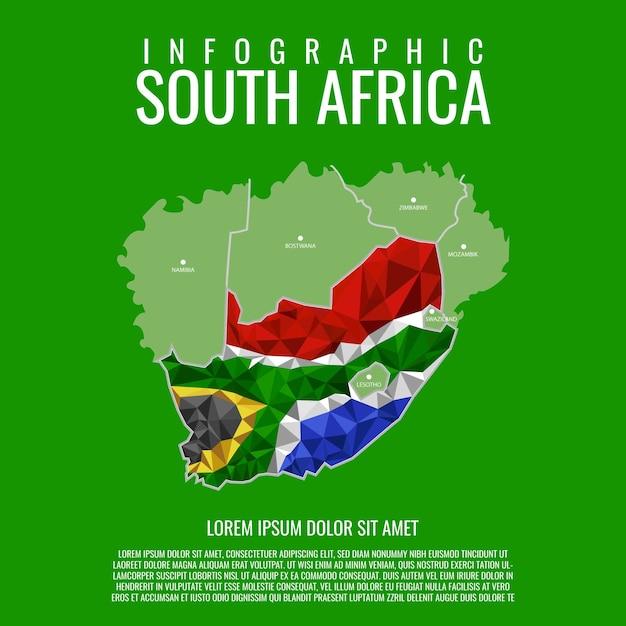 Infografica sudafrica Vettore Premium