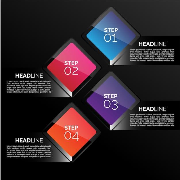 Infografica Template Design Vettore gratuito