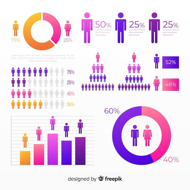 Infografica umana Vettore gratuito