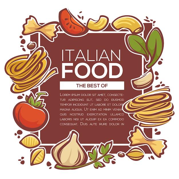 Ingredienti per la pasta Vettore Premium