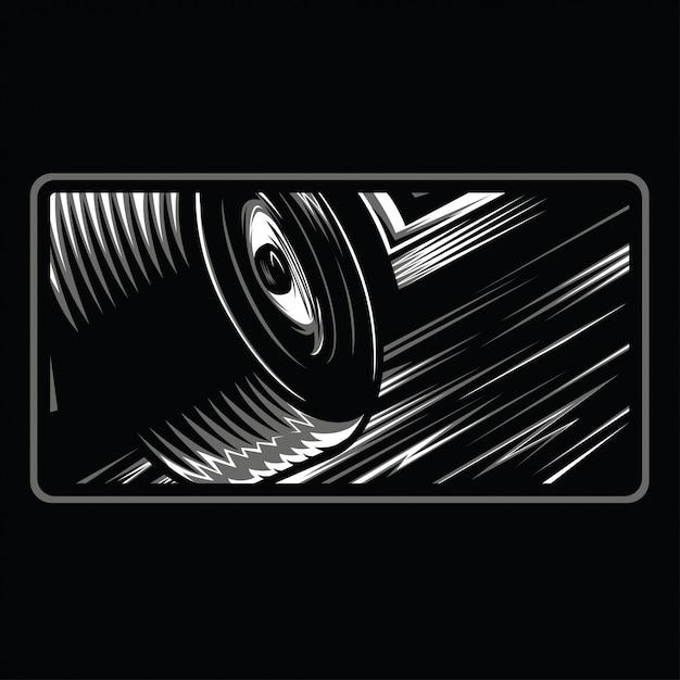 Iniziare sognando 2 illustrazione in bianco e nero Vettore Premium