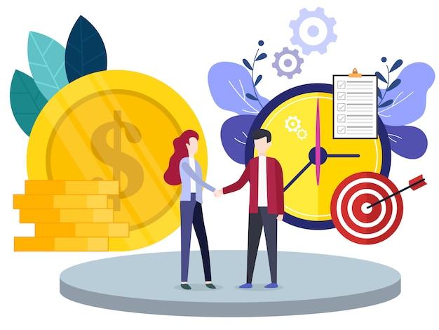 Innovazione di investimenti finanziari di concetto Vettore Premium