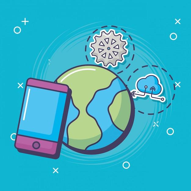 Innovazione e tecnologia Vettore Premium