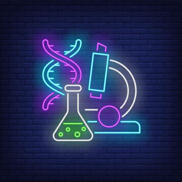 Insegna al neon da laboratorio Vettore gratuito