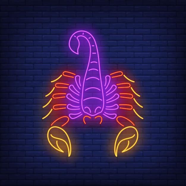 Insegna al neon del cancro Vettore gratuito