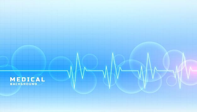 Insegna di concetto di sanità e medica nel colore blu Vettore gratuito