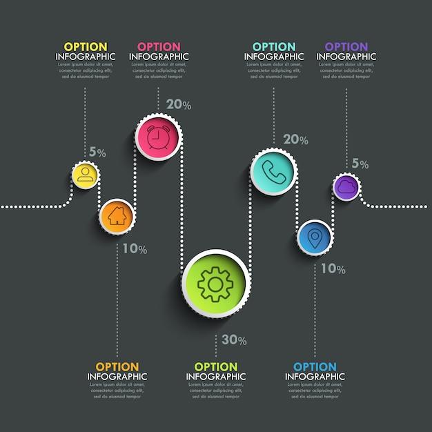 Insegna di cronologia del circolo Vettore Premium