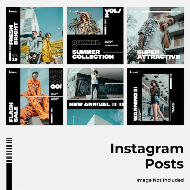 Insegna di instagram di media grossa e scura di instagram Vettore Premium