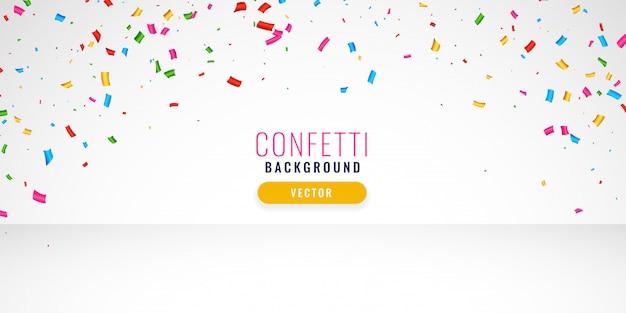 Insegna di progettazione del fondo dei coriandoli di celebrazione Vettore gratuito