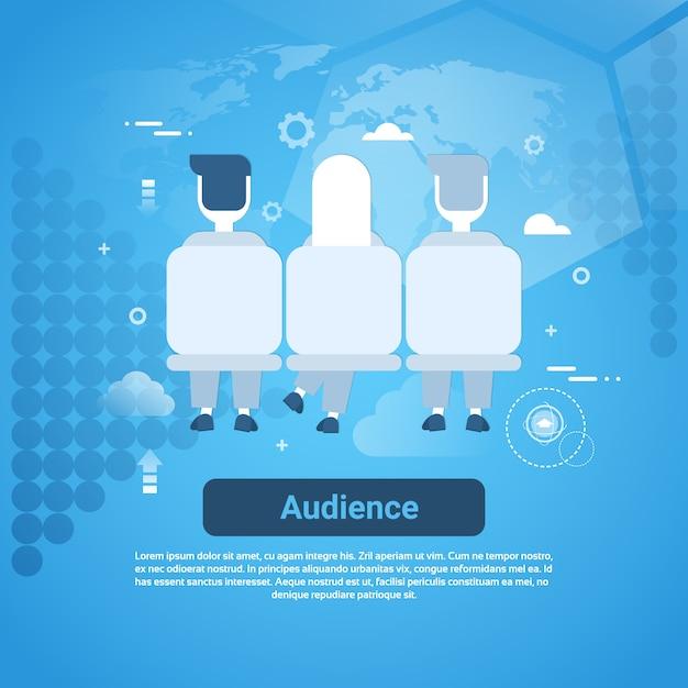 Insegna di web di concetto di affari del pubblico con lo spazio della copia Vettore Premium