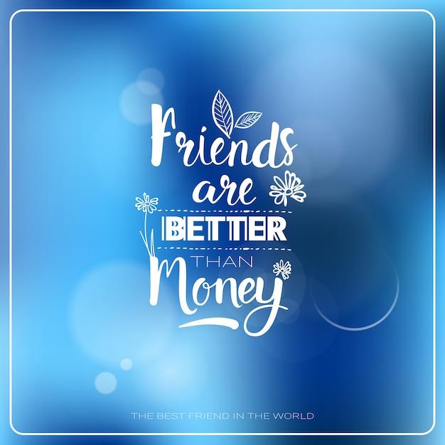 Insegna felice di festa degli amici della cartolina d'auguri di logo di giorno di amicizia Vettore Premium