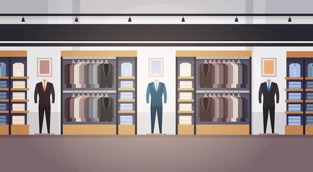 Insegna interna del centro commerciale dei vestiti del centro commerciale dei vestiti del grande supermercato del grande negozio di modo con lo spazio della copia Vettore Premium