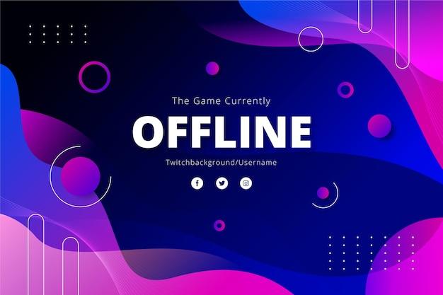 Insegna offline di twitch di effetto liquido astratto Vettore gratuito