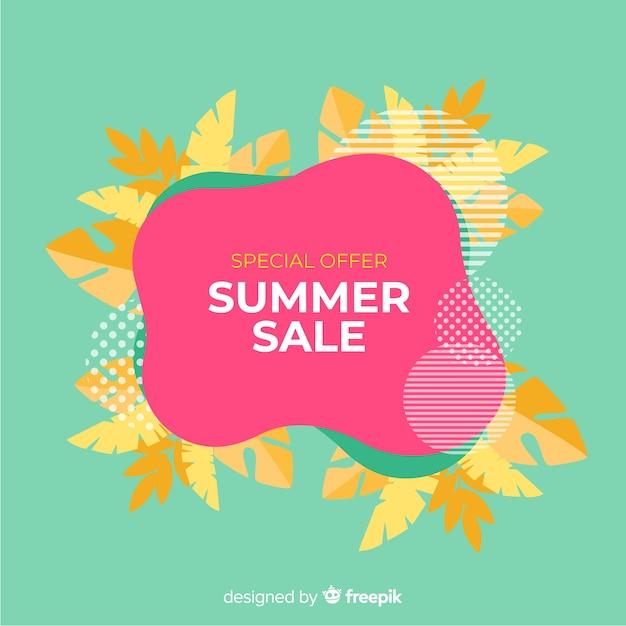 Insegne liquide di vendita di estate Vettore gratuito