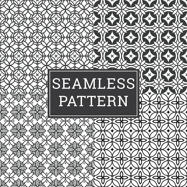 Insieme decorativo senza cuciture del fondo di art deco pattern texture. Vettore Premium