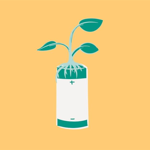 Insieme dell'illustrazione dell'illustrazione della mano di ambiente sostenibile Vettore gratuito