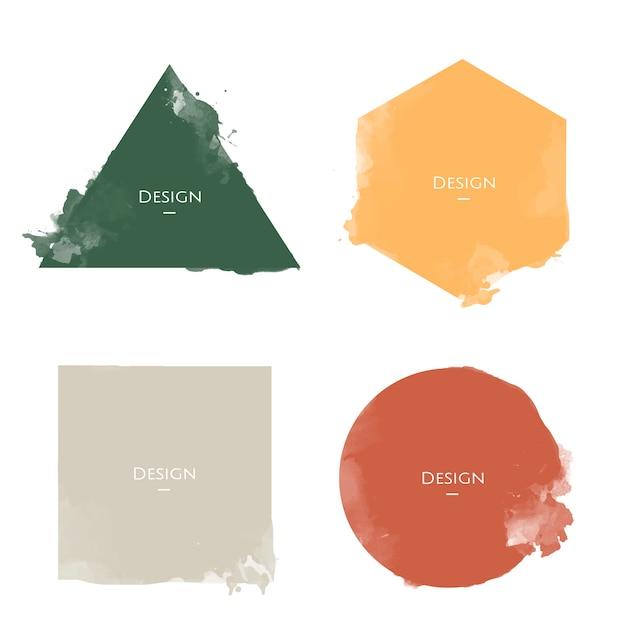 Insieme dell'illustrazione di progettazione dei modelli di distintivo di annuncio Vettore gratuito