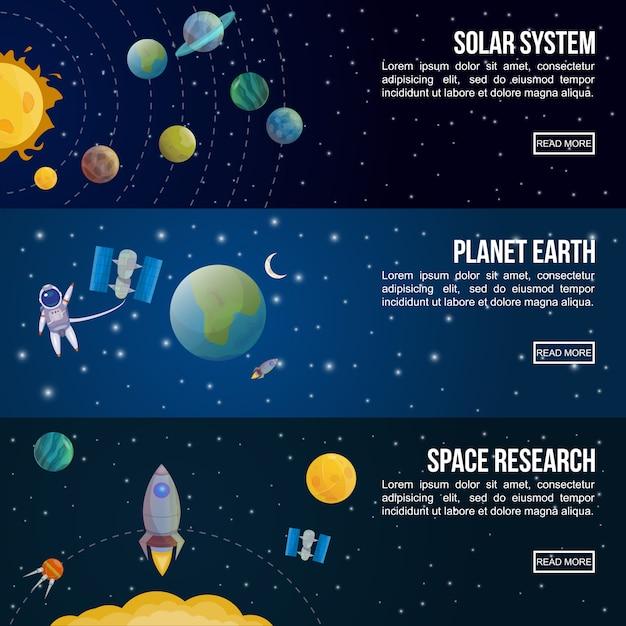 Insieme dell'insegna dell'universo dello spazio colorato Vettore gratuito