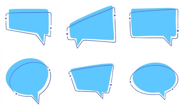 Insieme di bolle di discorso diverso Vettore Premium