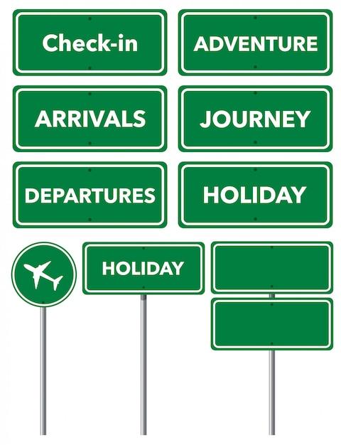 Insieme di segni di vacanza Vettore gratuito