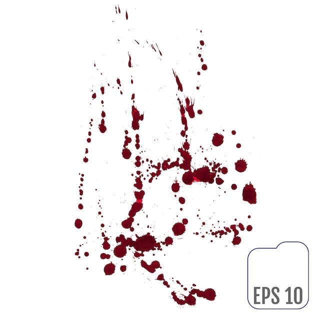 Insieme di vari schizzi di sangue o vernice Vettore Premium