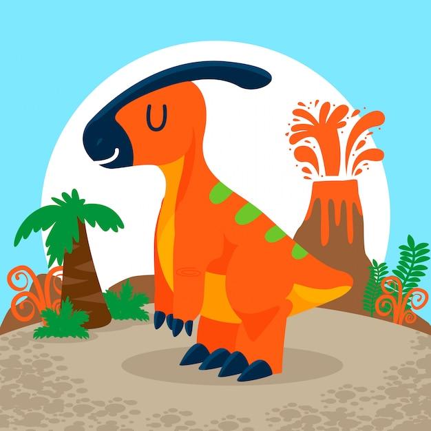 Insieme di vettore di dinosauri carino Vettore Premium