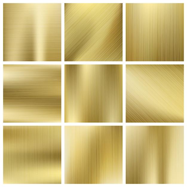 Insieme di vettore di struttura dell'oro Vettore Premium