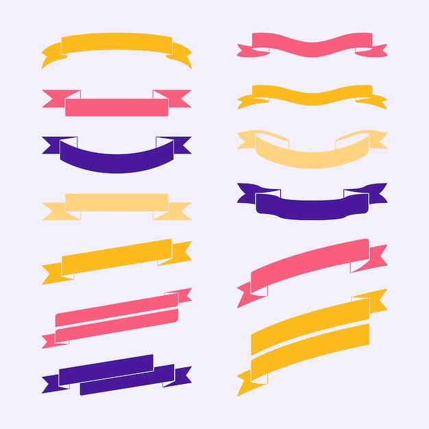Insieme di vettori di banner colorato Vettore gratuito