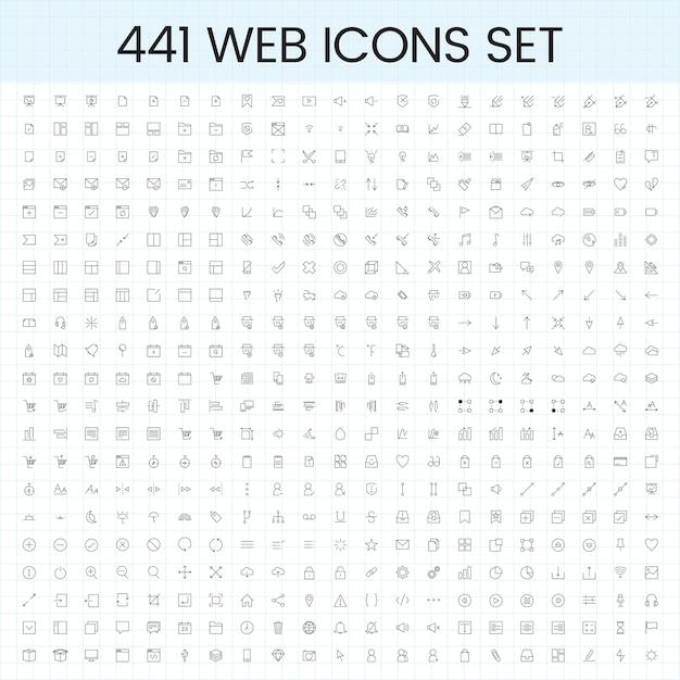 Insieme di vettori di icone del computer Vettore gratuito