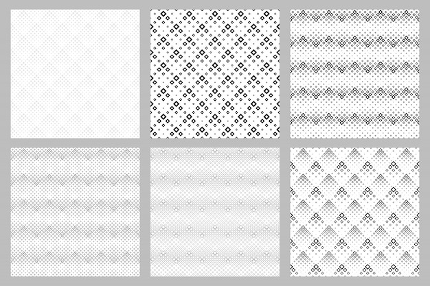 Insieme geometrico senza cuciture del fondo del modello del quadrato Vettore Premium