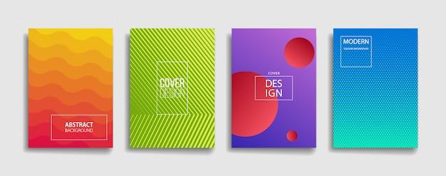 Insieme luminoso moderno di colore della pendenza dell'estratto di progettazione della copertura del fondo Vettore Premium