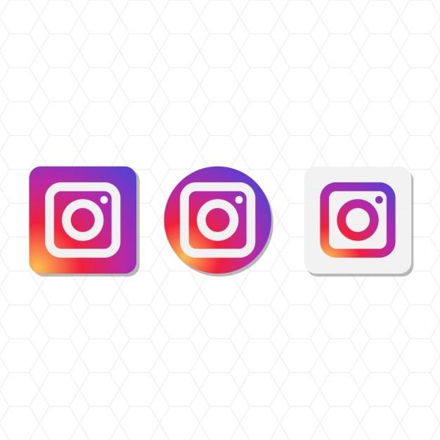 Instagram logo pacchetto Vettore gratuito