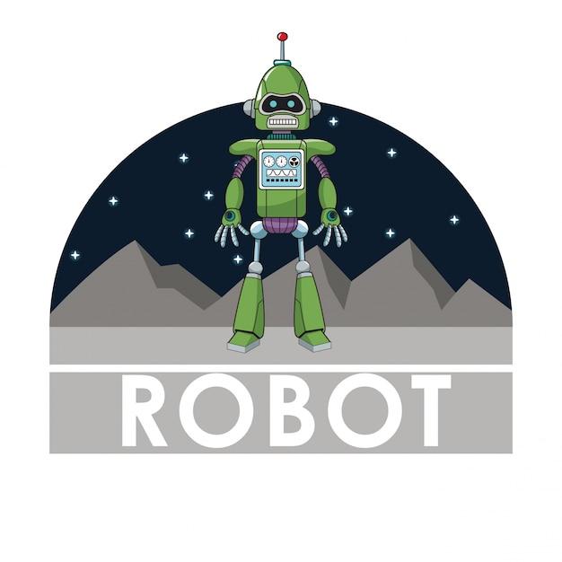 Intelligenza automatizzata tecnologia robot futuristica Vettore Premium