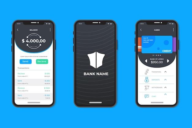 Interfaccia app bancaria minimalista Vettore gratuito