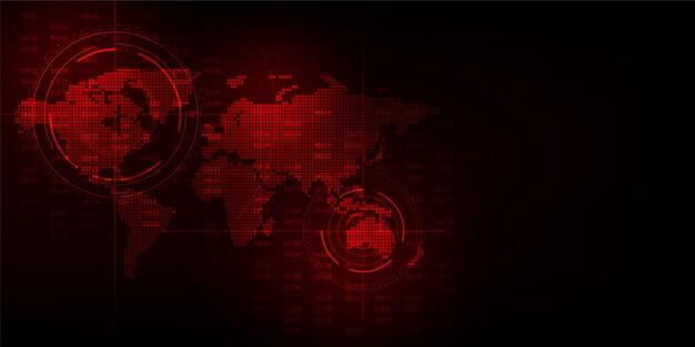Interfaccia che indica i dettagli geografici. Vettore Premium