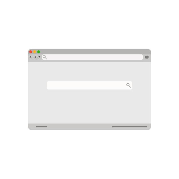 Interfaccia della finestra di ricerca vettore pagina browser retrò Vettore Premium