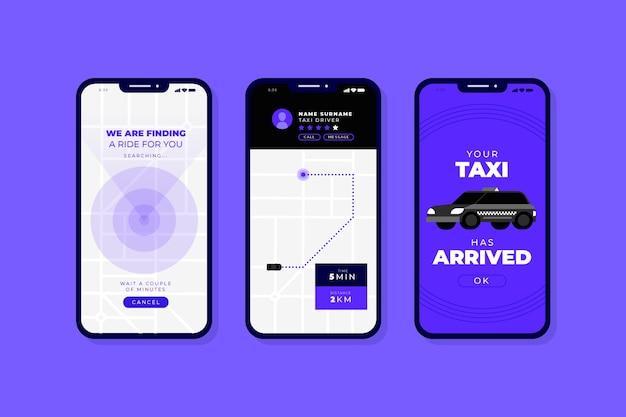 Interfaccia per l'app taxi Vettore gratuito