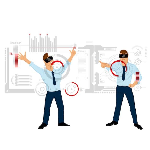 Interfaccia touch per illustrazione aziendale Vettore gratuito