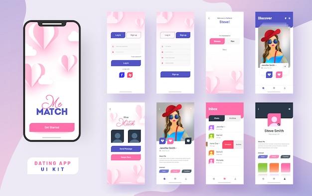 Interfaccia utente dell'app app mobile. Vettore Premium
